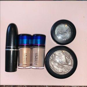 MAC Bundle- lipstick, 2 eyeshadows, and 2 pigments